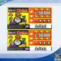 impreso de papel rayado billete de lotería