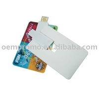 Cusotmed LOGO Plastic Credit Card USB Flash Drive