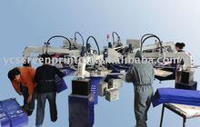 6 color Automatic Garment/Textile Screen Printing Machine