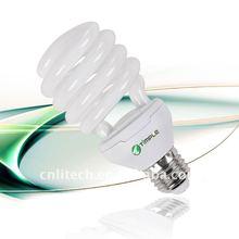 Half spiral energy saving lighting