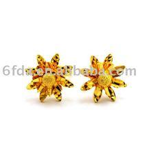 2012 charm women's flower gold earrings