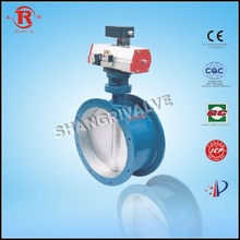 Worm Gear Soft Sealed Flange Butterfly Valve