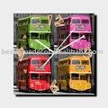 Popular carro londres/ônibus relógio de parede em quatro cores, arte da parede exclusivos para a venda