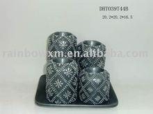 2012 Xma's ceramic candle holder set