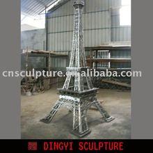 metal sculpture of Eiffel Tower