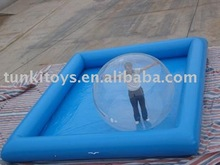water ball with inflatable pool