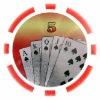 11.5g Royal Flush Laser Sticker Poker Chips / Casino Chip