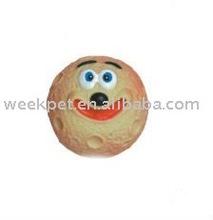 PVC face ball vinyl dog toy