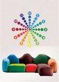 أفكار جديدة ملونة 10a042 للشركات ساعة الحائط ملصقا الديكورات المنزلية