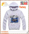 Hot Sell Custom Plain Printed Pullover Bulk Hoody With TC Fleece