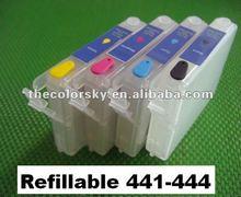 (RCE431-441-454) refillable ink cartridge for Epson T0431 T0441 - T0444 T0454 44 Stylus C84/C84N/C84WN/C86/CX6400 bk/c/m/y