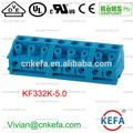 Pcb bloco terminal pitch 5.0mm euro pcb conector macho e fêmea do conector do terminal de 10a 2p tomada eléctrica kf332k-5.0