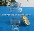 compota de vidro de embalagem frasco de metal com tampa de rosca 250ml