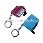 Hand crank mini 2 led key chain light for promotion gift