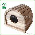 Maison rat,/hamster maison de toit rond en bois naturel