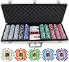 500 Poker Chip Set in Silver Aluminium Case
