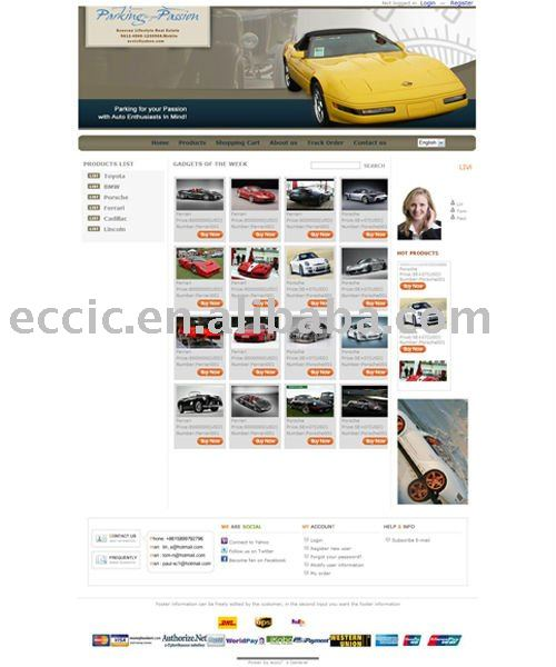 Ecommerce Auto Parts Website Design in china