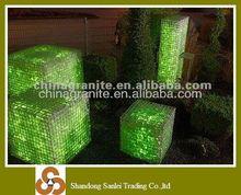 landscaping green glass rocks for gabion