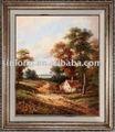 100% hechos a mano de pintura al óleo clásicaimagen del paisaje