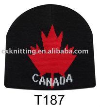 Canada acrylic knitted beanie