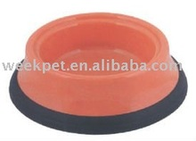 Mixed Size Dog Bowl With Rubber Bottom