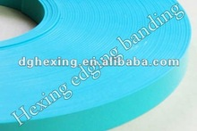2012 PVC wood grain/plain color edge banding decorative edge banding for kitchen ware and furniture