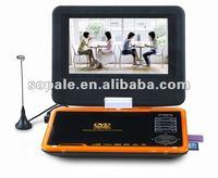 7'' portable DVD player with TV/AV/Game/USB/card