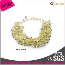 Fashionable Design 22k Gold Woven Bracelets For Women