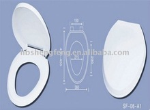 "17"" modern washable plastic toilet seat cover"
