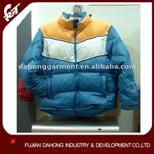Mens padded jacket stitch line