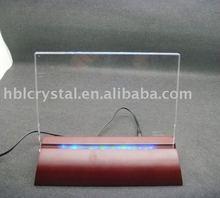led base crystal, blank k9 crystal plaque,