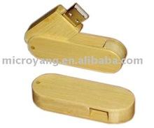 New design environmental swivel wooden usb flash memory popular promotional gift