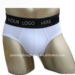 fashion white cotton men's underwear briefs