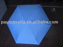 19''*6 ribs 3 folding super tiny pencil umbrella
