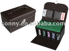 Leather Poker Chip Set in box