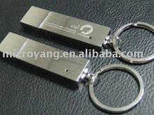 Textured metal swivel usb flash drive usb 2.0 memory stick drive gift