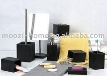black luxry bathroom set 4 pieces