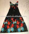 2014 novo estilo viscose vestidos de verão mulheres simples vestido longo