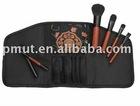 5pcs makeup brushes in bag