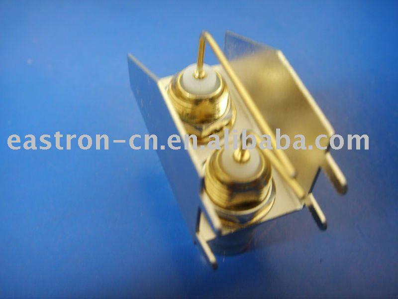 Hdtv BNC doble jack BNC de dos puertos BNC 2 ports de ángulo recto de extremo a extremo pcb EB-0805