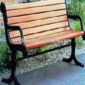 Garden park wooden leisure benches
