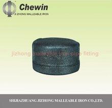 rigid galvanized banded malleable iron round cap