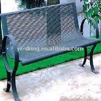 Outdoor metal leisure bench