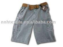 Men's Fashion cargo shorts with belt