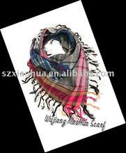 Mens 100% cotton plaid fashion scarf new