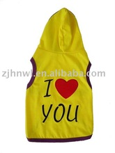 cute yellow dog hoodie/pet hoodie/dog apparel
