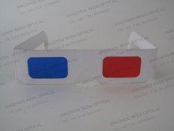 Perfect White Frame Red Cyan Eye Glass