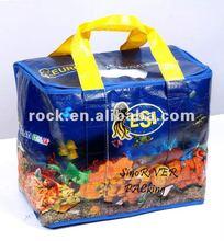 2014 new arrival plastic wine bottle cooler bags