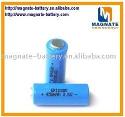 ER10280 Lithium Thionyl chloride battery 3.6v 450mah