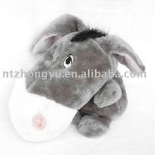 "Big head stuffed plush ashy donkey 18""/dog toy/pet toy"